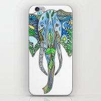 tatoo iPhone & iPod Skins featuring Tatoo Elephant by PepperDsArt