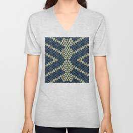 Squiggle Trails Most Awesome Yellow Red Blue and Black Unisex V-Neck