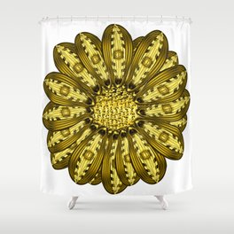 """Gold"" Gazania Flower Special Edition 2 (Clear Back) Shower Curtain"