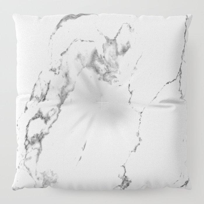 White Marble I Floor Pillow