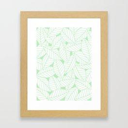 Leaves in Wintergreen Framed Art Print