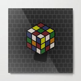 Unorthodox Mix: Rubik's Cube Metal Print