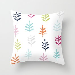 Sprigs - colorful Throw Pillow