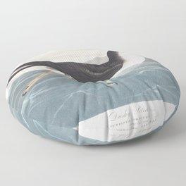Dusky petrel, Birds of America, Audubon Plate 299 Floor Pillow