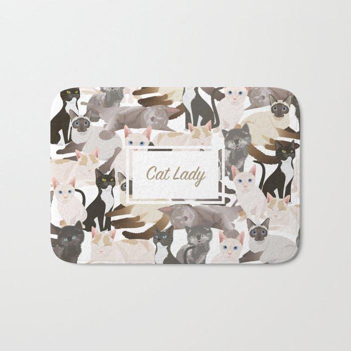Cat lady Bath Mat