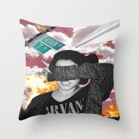 nirvana Throw Pillows featuring Personal Nirvana by LittleCarmine
