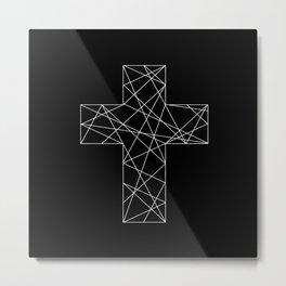 Geometrical cross // Tara Metal Print
