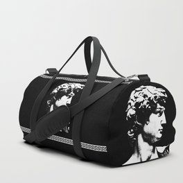 David/Greek Key - Black Duffle Bag
