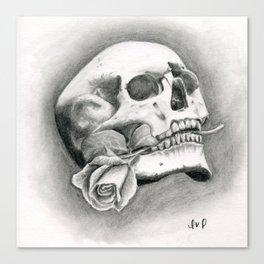Skull & Rose Canvas Print