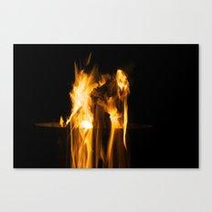 Fire Falling Canvas Print