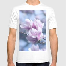 Magnolia beauty, patterns of nature MEDIUM White Mens Fitted Tee