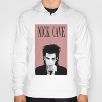 nick cave Hoodies featuring nick cave by tama-durden