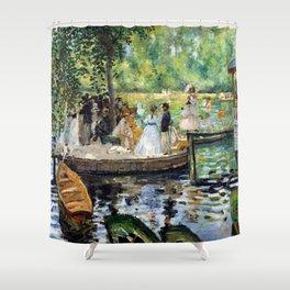 12,000pixel-500dpi - Pierre-Auguste Renoir - The Grenouillere - Digital Remastered Edition Shower Curtain