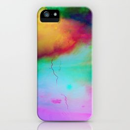 colorful night iPhone Case