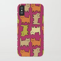 cartoon iPhone & iPod Cases featuring Cartoon Kitties by Irina  Romanovsky