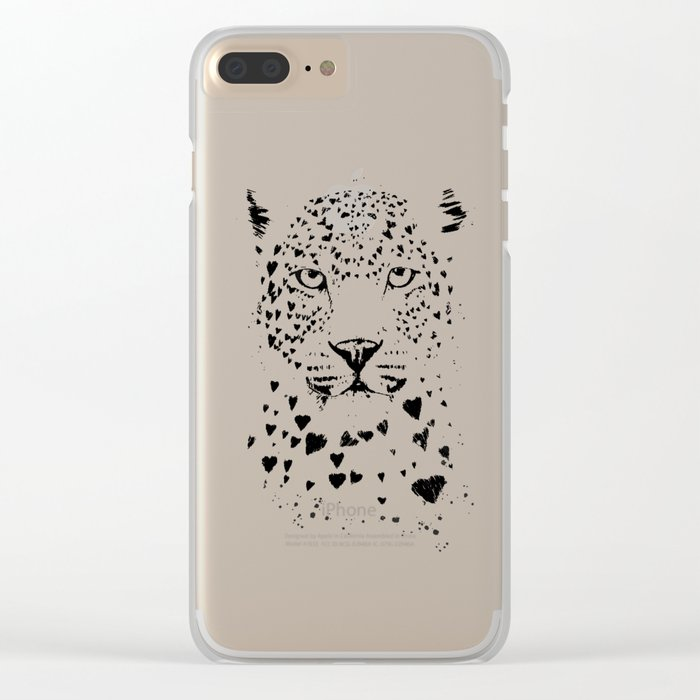 Lovely leopard Clear iPhone Case