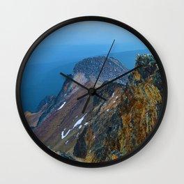 Summit of Pyramid Mountain in Jasper National Park, Canada Wall Clock