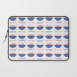 Asian Food Soup Bowl Vector Pattern Laptop Sleeve