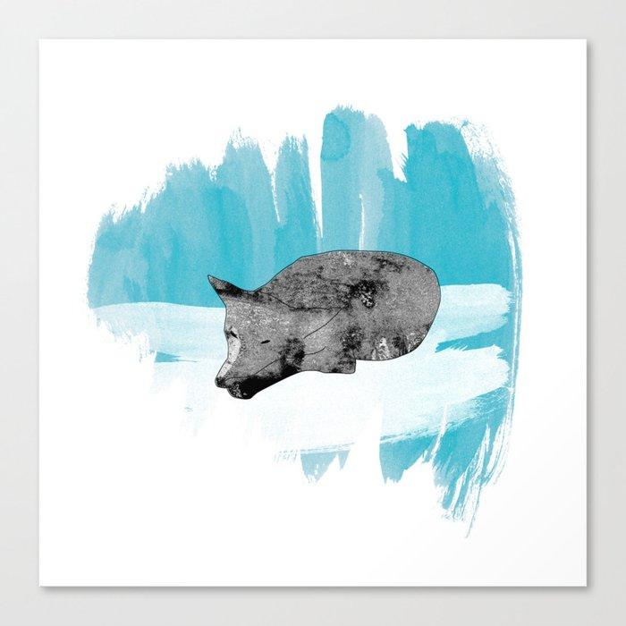 sleeping wolf Canvas Print