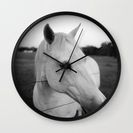 White Horse is White Wall Clock