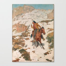 Charles Schreyvogel In Hot Pursuit Canvas Print