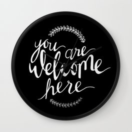 You are welcome here Wall Clock