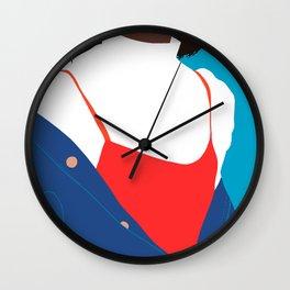 Jean jacket Wall Clock