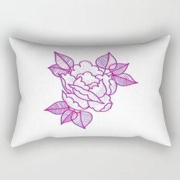 Old tattoo rose Rectangular Pillow