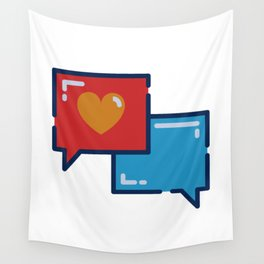 Love in the digital world  Wall Tapestry