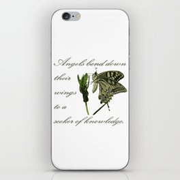 Angels Bend Down Their Wings To A Seeker Of Knowledge iPhone Skin