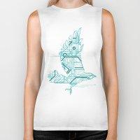 wind Biker Tanks featuring Wind-Up Bird by Jay Fleck