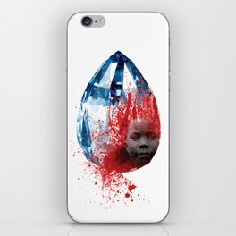 """Blood Diamond"" by Keith Moses Wardlaw A.K.A. kmoses215 iPhone Skin"