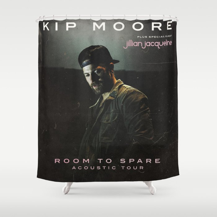 kip moore room to spare tour 2019 kepiting Shower Curtain