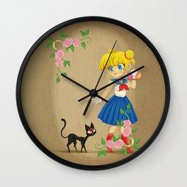 Retro Sailor Moon Wall Clock