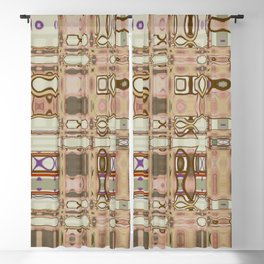 Abstract French Toast (Pale Neutrals & a Touch of Plum) Blackout Curtain