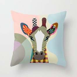 Stand Tall Giraffe Throw Pillow