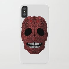 Skull No.8 Chagrin iPhone X Slim Case