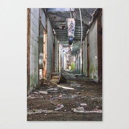 The Abandoned Corridor 2 Canvas Print