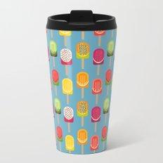 Fruit popsicles - blue version Metal Travel Mug