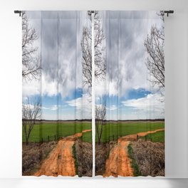 Take Me Home - Old Country Road in Oklahoma Blackout Curtain