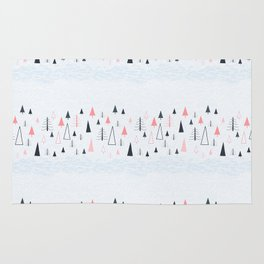Abstract Winter Landscape Pattern Rug