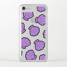 Mermaid Shells Bight Pattern Clear iPhone Case