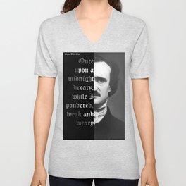 Edgar Allan Poe - word ard Unisex V-Neck