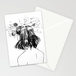 Unexplainable thoughts Stationery Cards