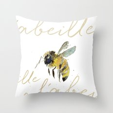 l'abeille  Throw Pillow
