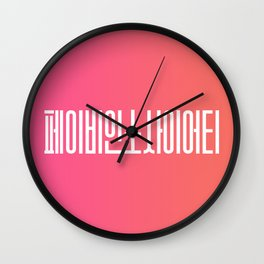 Fabian Society - Korean alphabet Wall Clock