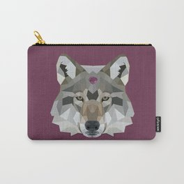 Geo Gem Wolf Carry-All Pouch