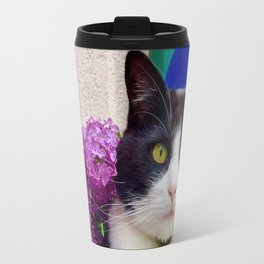 Orazio charming cat in the blue Travel Mug