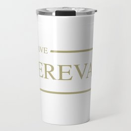 I Love Yerevan #society6 #decor #buyart #artprint Travel Mug
