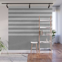 Gray color block and stripes Wall Mural